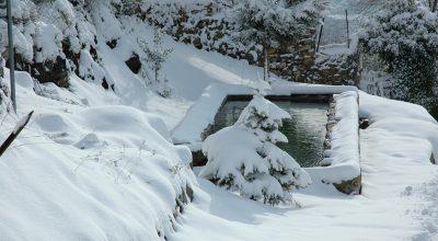 Torria - lavatoio sotto la neve -